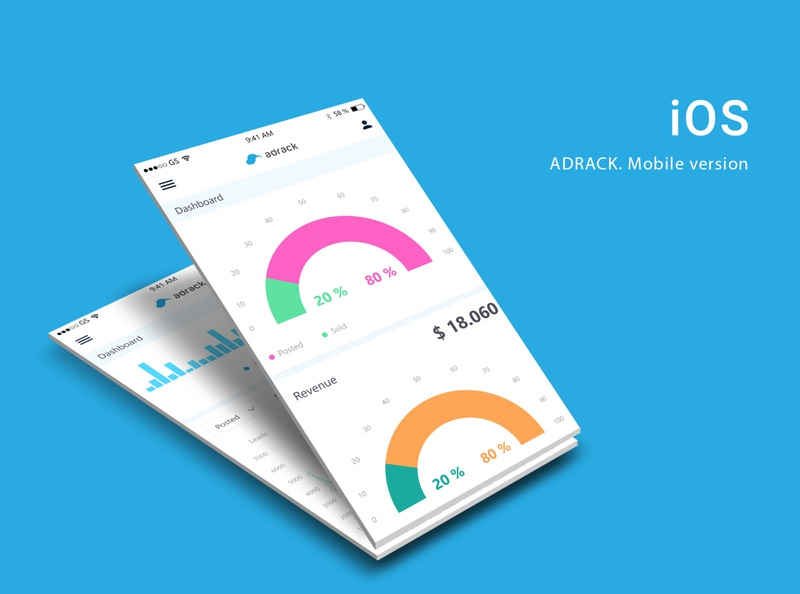 Adrack mobile version userinterface leads dashboard ui mobile ux mobile ui software design ux ui