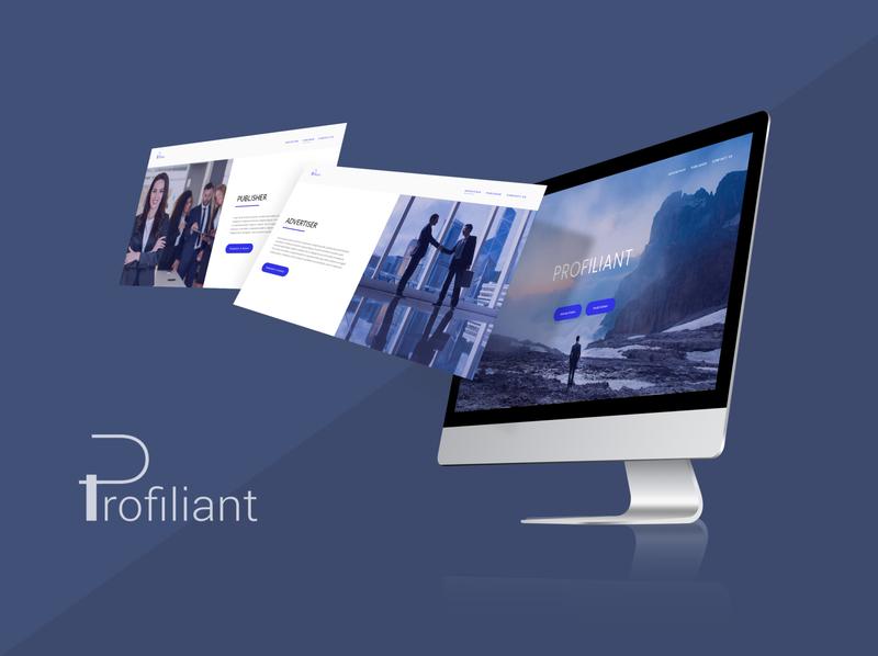 Profiliant-website-Loan loan graphic design logo minimalist webdesign website ux ui