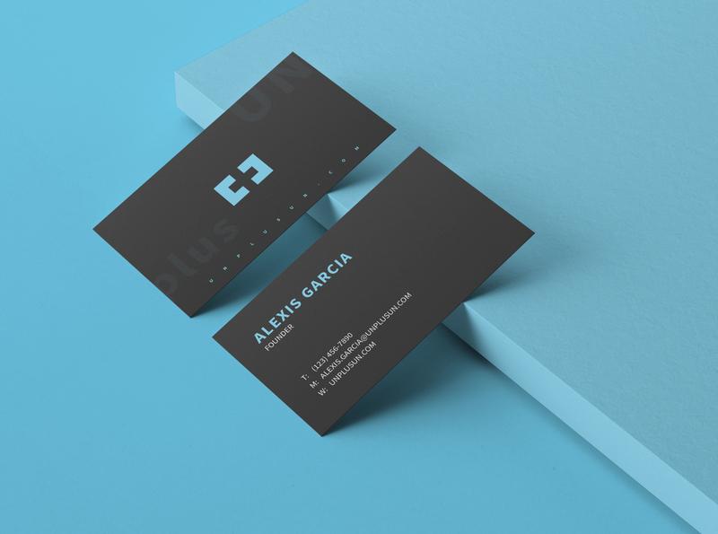"Logo Design 'UN PLUS UN"" logo branding branding design one pluse one plus bussines bussines card visit card minimalist logo black and blue graphic  design logo design logotype"