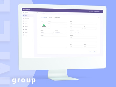 MED IB userinterface user experience platform design portal design software design medical app design app minimalist ux ui