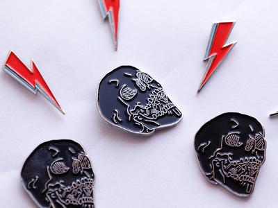 Skull Enamel Pins