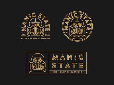 Manic State retro tattoo brand fashion logo dieselpunk