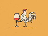 Rooster for French wine