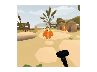 Mookins VR (Oculus Quest) web virtual reality oculus model low poly character cartoon webxr webvr xr vr blender animation a frame 3d