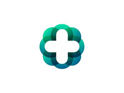 PPE Provider Identity virus plus cross hospital gradient identity branding logo medical health