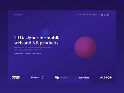 Portfolio Update 🔵🔴 portfolio webvr webxr spheres css animtion 3d xr vr mobile responsive web