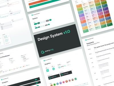 Every.org   Design System v1.0 web figma ux design system ui charity nonprofit desktop donate
