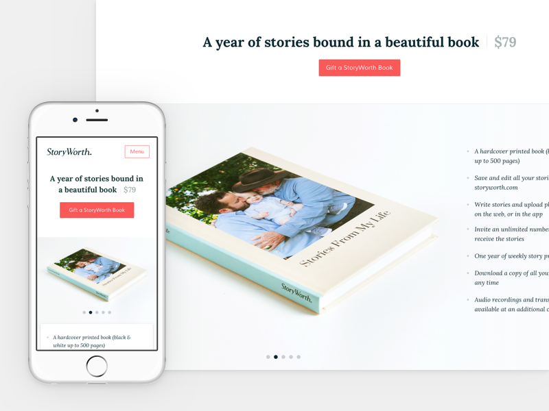 StoryWorth Books by Carl Spencer on Dribbble