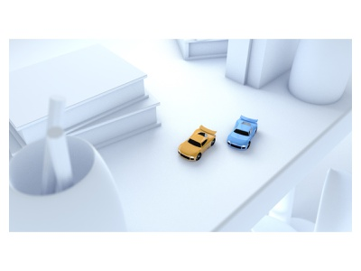 Table Top Racing model low poly illustration 3d car racing c4d game