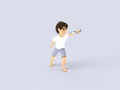 Devon character illustration play toy child boy c4d 3d model 3d