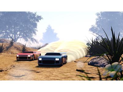 Micro RC toy particles model game car 3d racing cinema 4d c4d