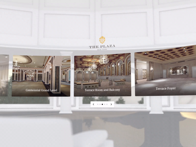AllSeated VR - Lobby UI virtual reality vr venue oculus model unity3d unity design cinema 4d ui animation c4d 3d