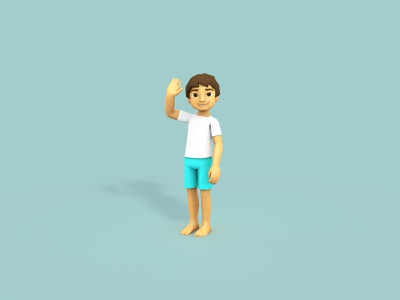 Low Poly Bodhi model unity cinema 4d c4d vr mobile character game child boy 3d low poly