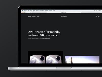 Portfolio Refresh portfolio design vr mobile-first minimal ui animation 3d responsive web