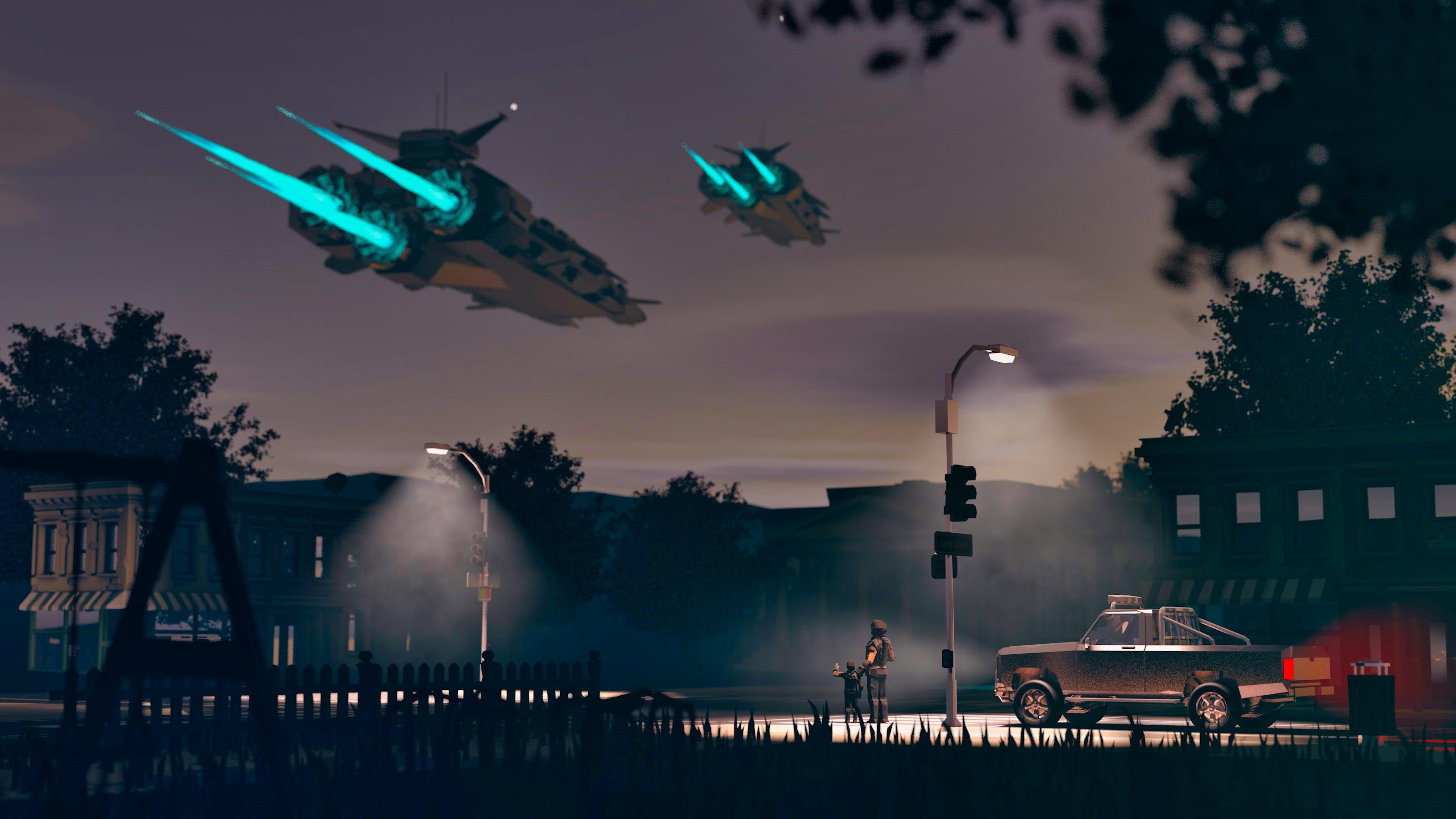 Sci fi suburbs full