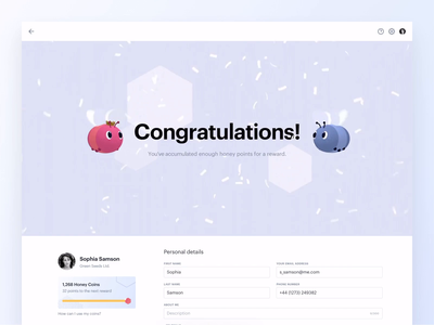Congratulations! 🐝 particles banner notification confetti bee character cinema 4d c4d animation 3d