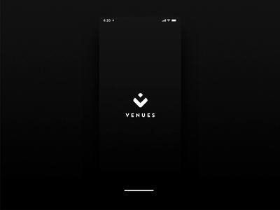 Venues App Welcome Screen