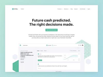 Futrli | Predict Marketing Site app web ui money finance data dashboard chart predict forecast business branding animation