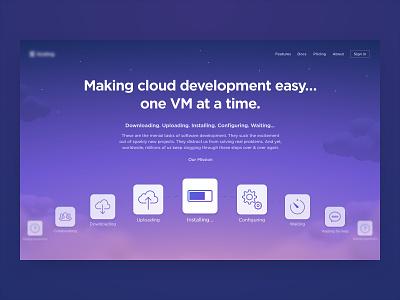 Cloud Coding Site cinema 4d c4d 3d clouds cloud code coding vm web ui