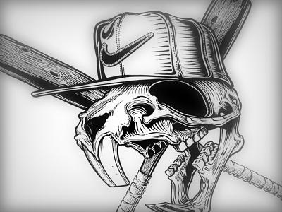 Nike Field Rat nike rat art black white illustration wood bat baseball