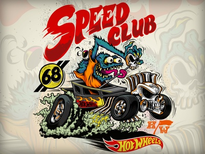 Speed Club - Hot Wheels hotrod rat fink muscle monster speed illsutration car