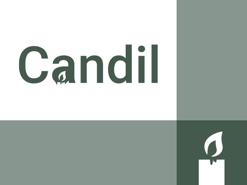 Candil identity lettering flat minimal illustrator type logo icon vector typography illustration design