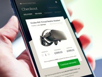 Oculus – buy on mobile (UX, UI)