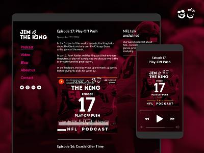 Jim & The King – NFL Podcast nfl logo branding podcast ui webdesign rwd