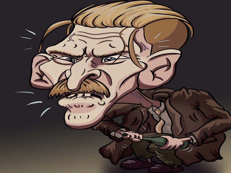 Arthur Shelby Caricature photoshop cartoon peaky blinders colour character caricatures caricatura caricature