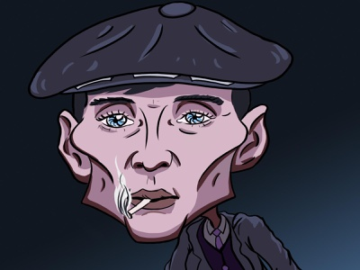 Tommy Shelby cartoon character peaky blinders colour photoshop character cartoon caricatures caricature