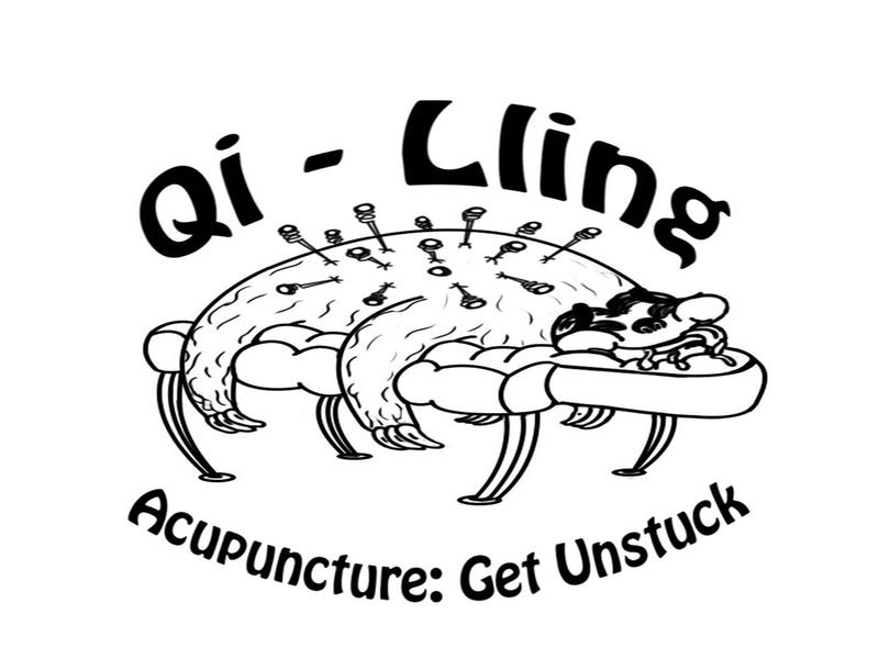 Qi - Lling brand design brand cartoon illustration logo design designs branding illustration line art design cartoon character photoshop cartoon acupuncture logos logotype logodesign logo