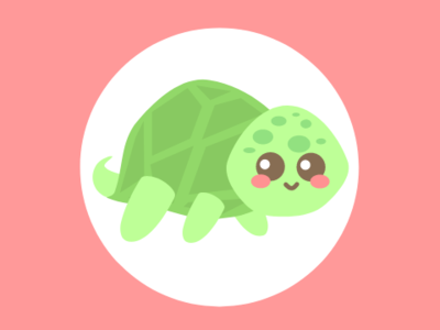 Turtle turtle chibi vector
