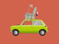 Car Illustration Series: Mr Bean