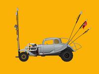 Car Illustration Series: Nux, Mad Max