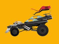 Car Illustration Series: The Gigahorse, Mad Max