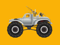 Car Illustration Series: Big Foot, Mad Max
