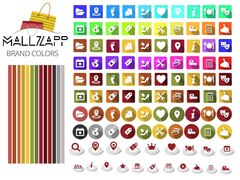 Online shopping Free App Icon and Logo offer location favorite shopping logo brand dubai mall app flat free online