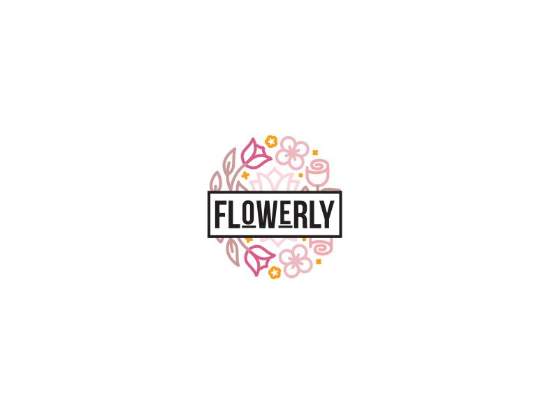 flowerly logo by sumaira qamar dribbble