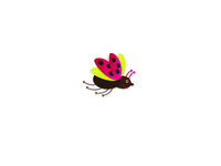 Bug virus mark logo pink beautiful bug