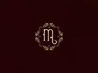 Vintage Logo ancient emblem ornamental m vintage retro