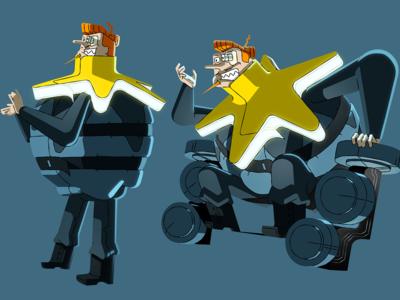 Multikino - Maestro rejected character design