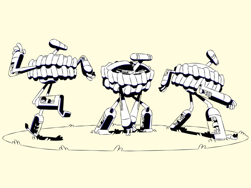 Traktobiki character pose action pose vector tv series harmony styleframe illustration character animation 2d animation