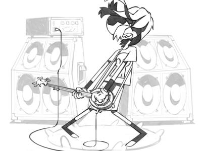 Character sketch guitar sketch design styleframe illustration character animation 2d