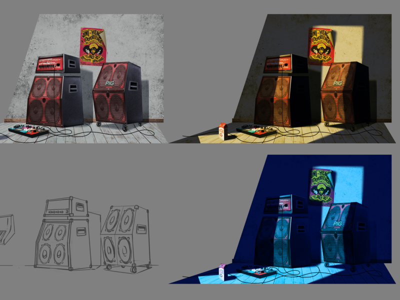 Tv Series look dev backgrounds animation 3d harmony design photoshop illustration styleframe animation animation 2d