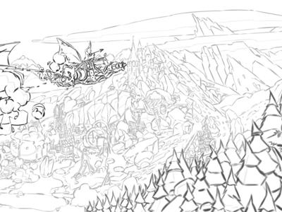 Illustration sketch lineart sketch design photoshop illustration
