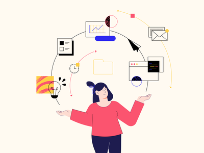 One Hub idea linear simple webdesig productdesign designsystem design ux ui illustration character flat