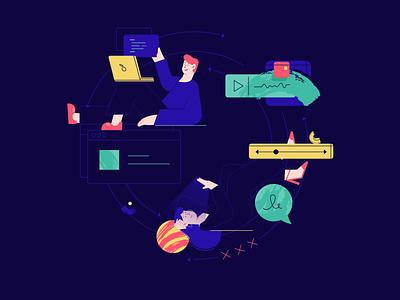 Next lap work linear ux design illustration digital flat ui vector webdesign 2d character
