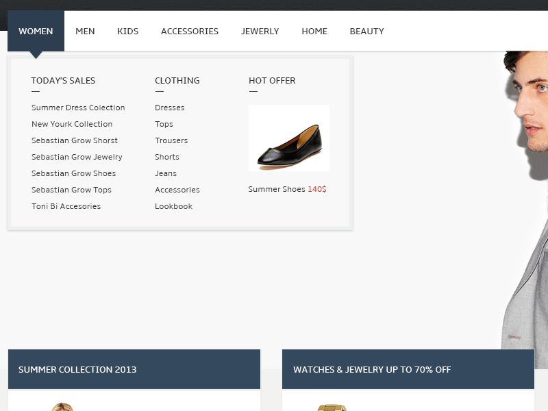 Shop ecommerce shop magento presta shop virtuemart open cart sales menu dropdown
