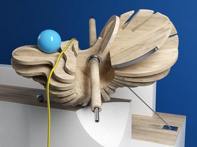 SKELETON wood set render octane design cinema4d c4d 3d