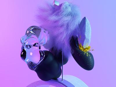 EXPERIMENT DESIGN 2 hair fur setdesign render octane design cinema4d c4d 3d